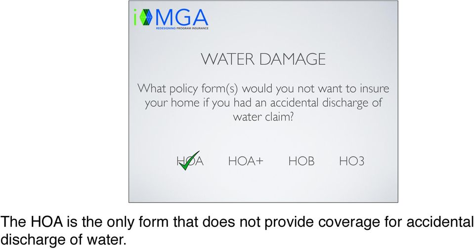 discharge of water claim?