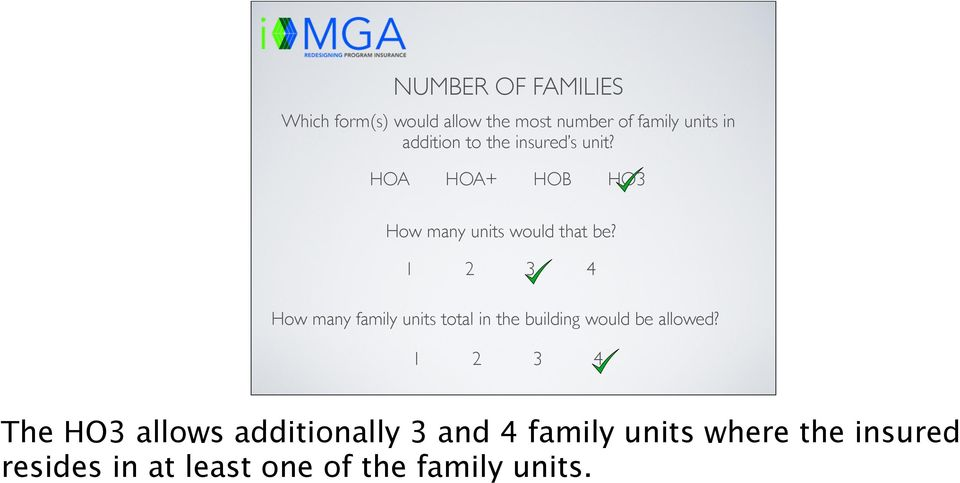 1 2 3 4 How many family units total in the building would be allowed?