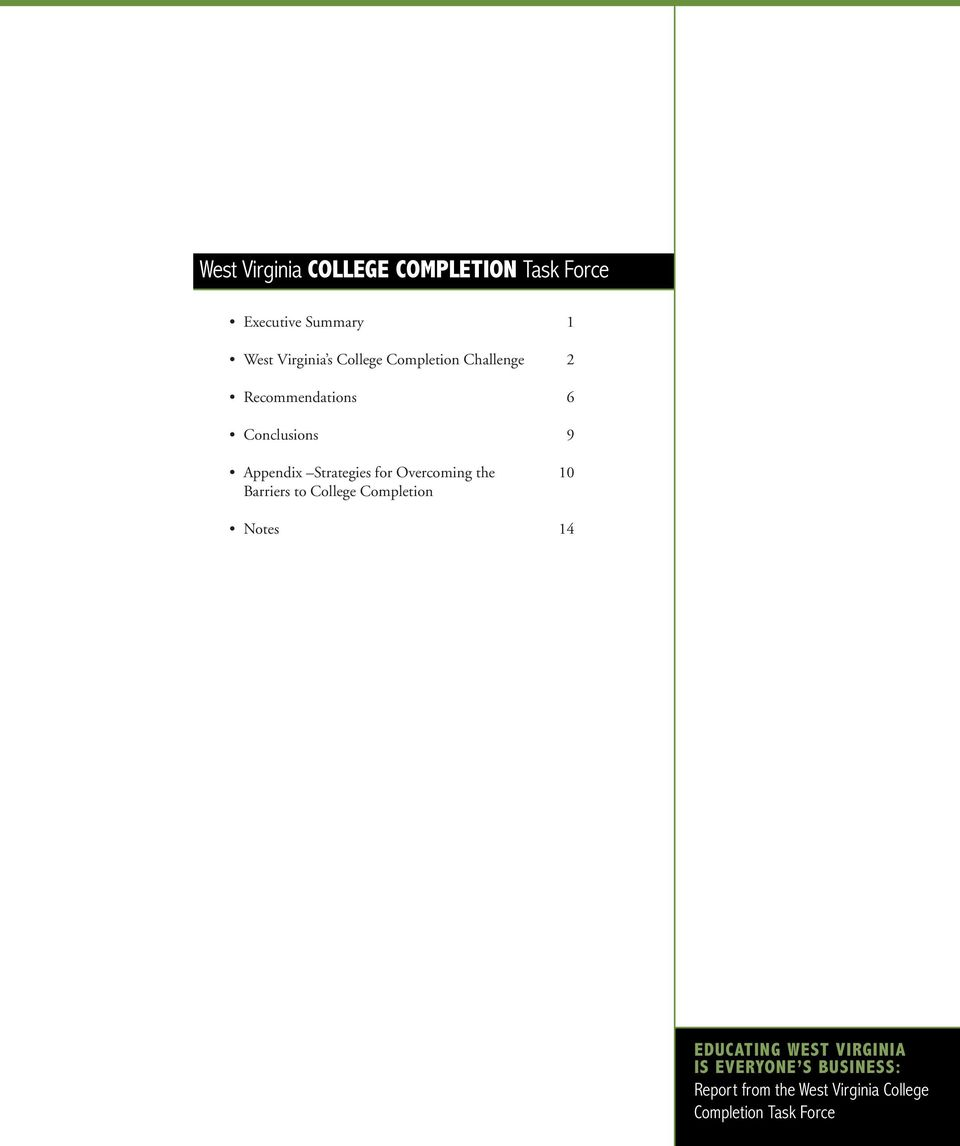 for Overcoming the 10 Barriers to College Completion Notes 14 EDUCATING WEST