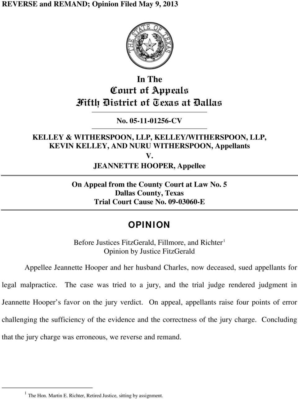 5 Dallas County, Texas Trial Court Cause No.