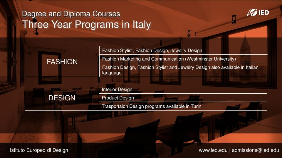University) Fashion Design, Fashion Stylist and Jewelry Design also available in