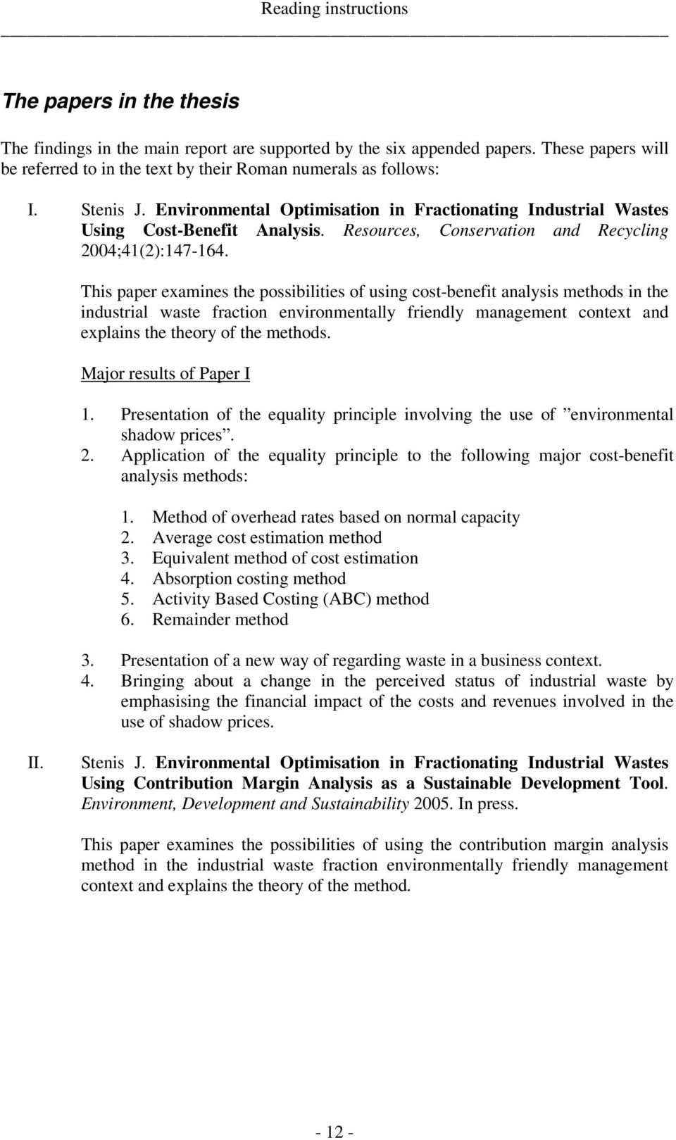 Resources, Conservation and Recycling 2004;41(2):147-164.