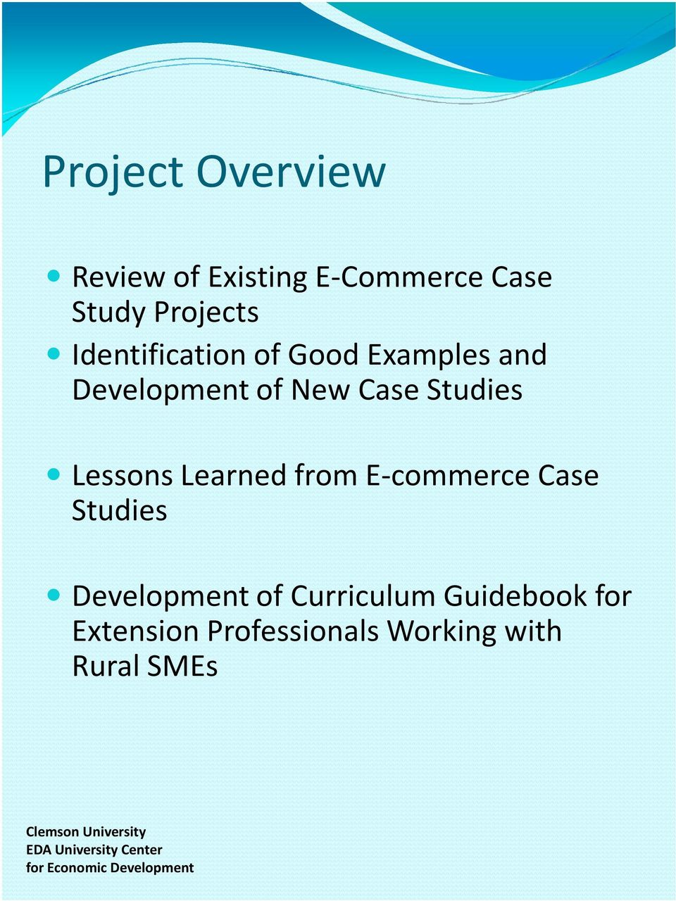 Lessons Learned from E-commerce Case Studies Development of Curriculum
