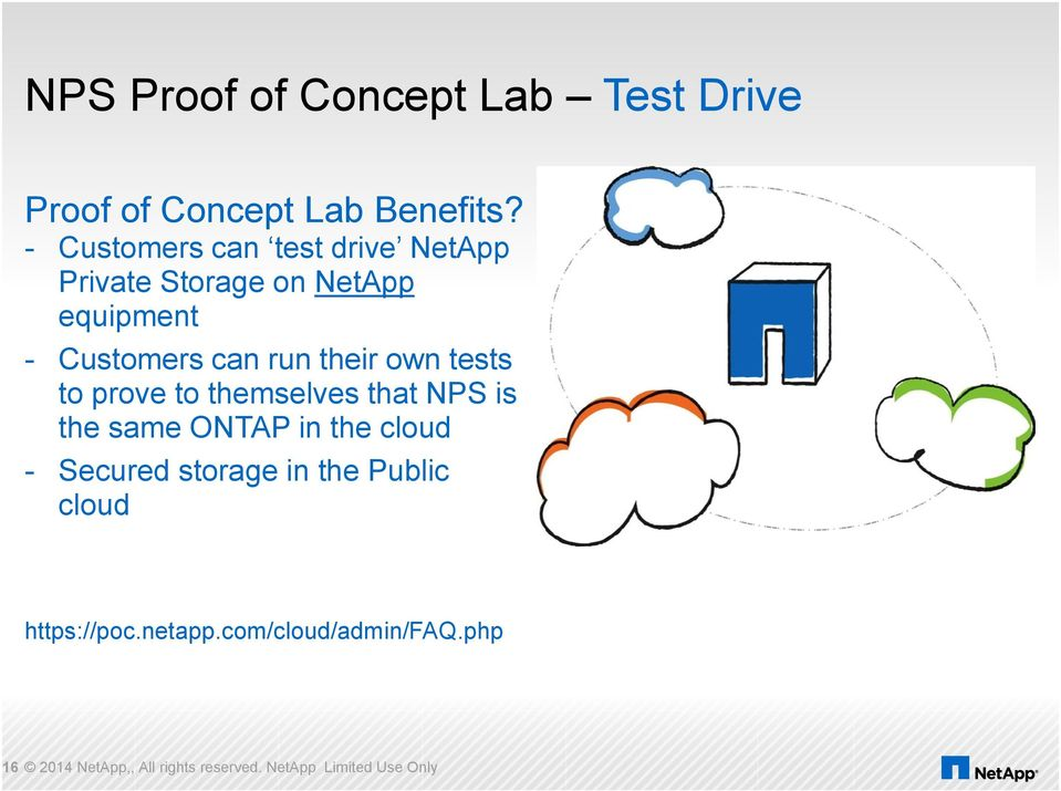 their own tests to prove to themselves that NPS is the same ONTAP in the cloud - Secured