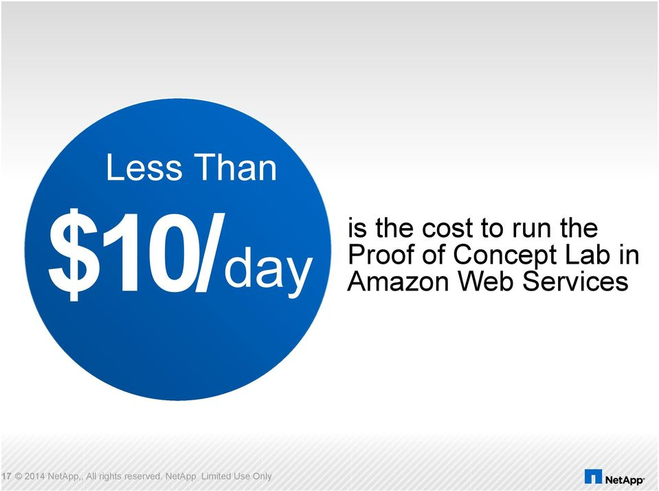 Amazon Web Services 17 2014 NetApp,,