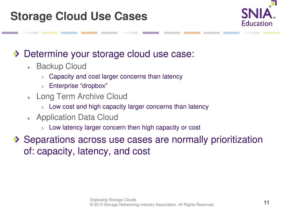 capacity larger concerns than latency Application Data Cloud Low latency larger concern then high