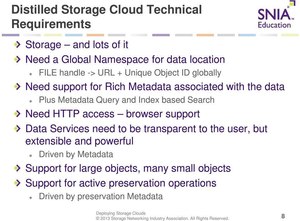 Search Need HTTP access browser support Data Services need to be transparent to the user, but extensible and powerful Driven by