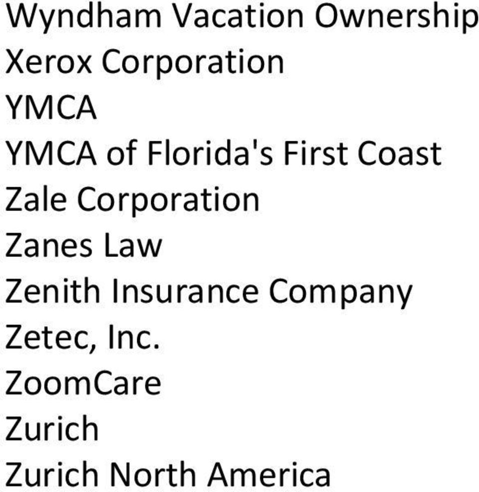 Corporation Zanes Law Zenith Insurance