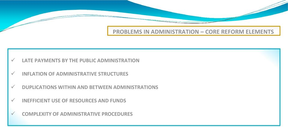 STRUCTURES DUPLICATIONS WITHIN AND BETWEEN ADMINISTRATIONS