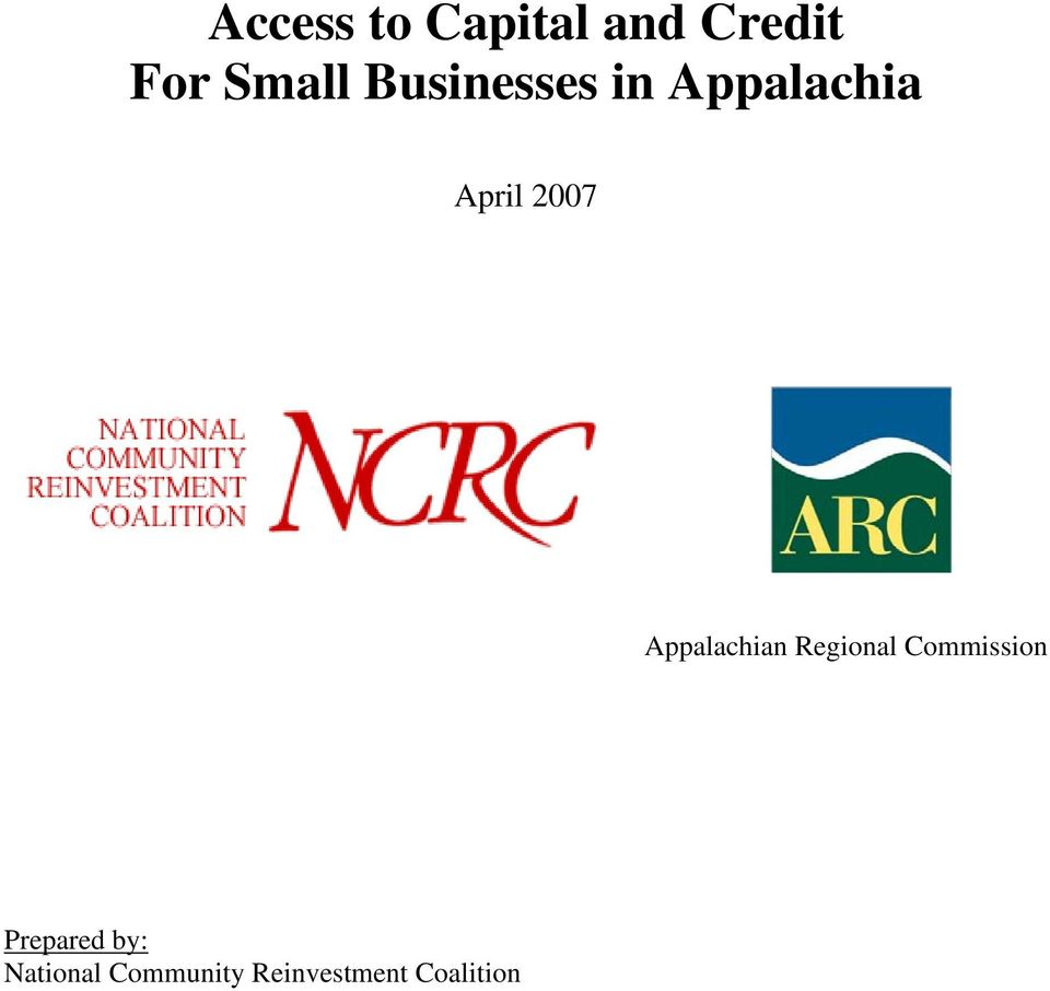 Appalachian Regional Commission Prepared
