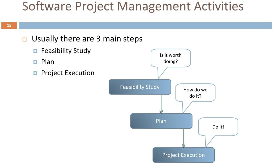 Project Execution Is it worth doing?