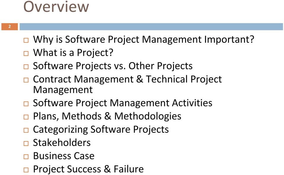 Other Projects Contract Management & Technical Project Management Software