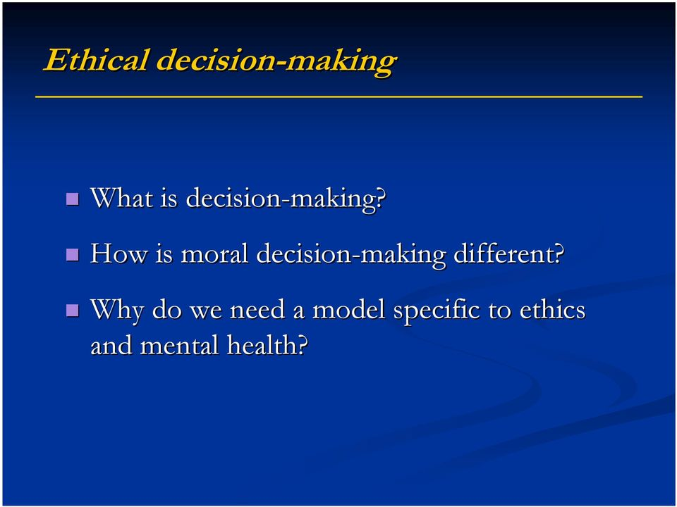 How is moral decision-making