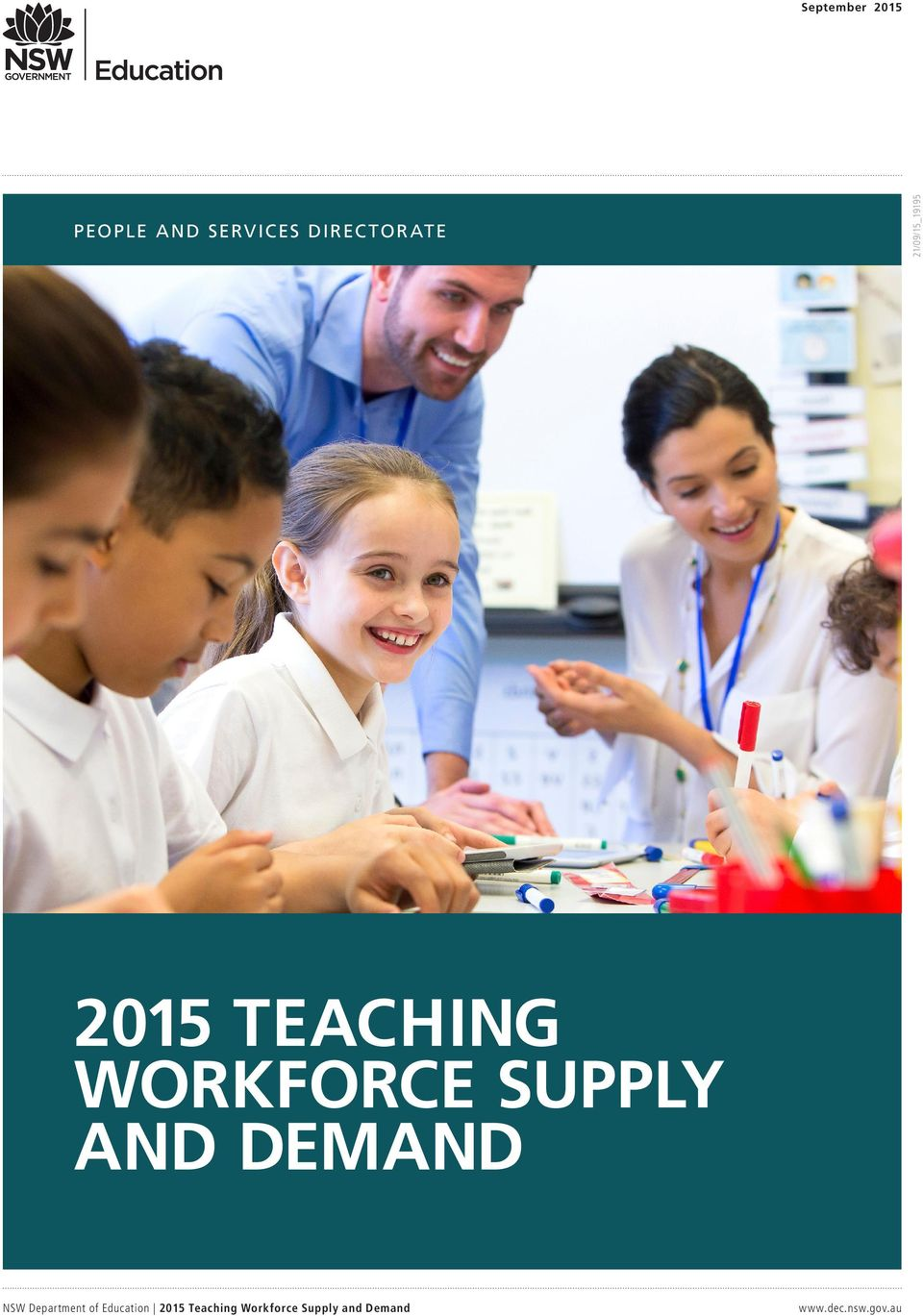 SUPPLY AND DEMAND NSW Department of Education 2015