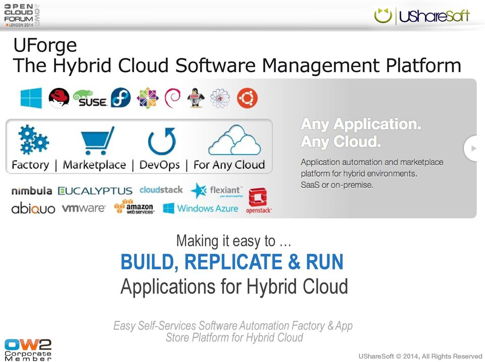 Applications for Hybrid Cloud Easy Self-Services
