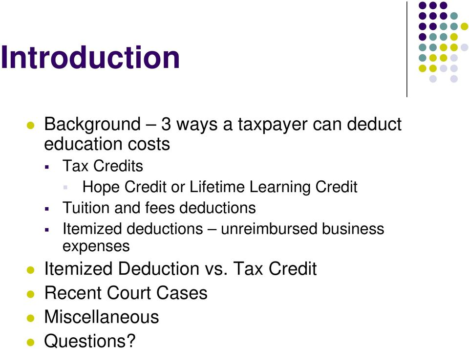 deductions Itemized deductions unreimbursed business expenses
