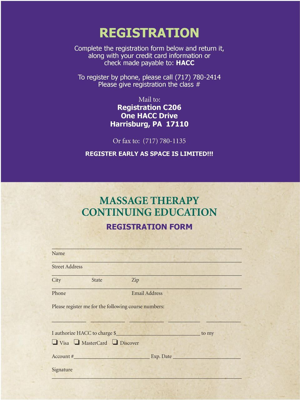 Massage Therapy Continuing Education Offerings Springsummer Pdf
