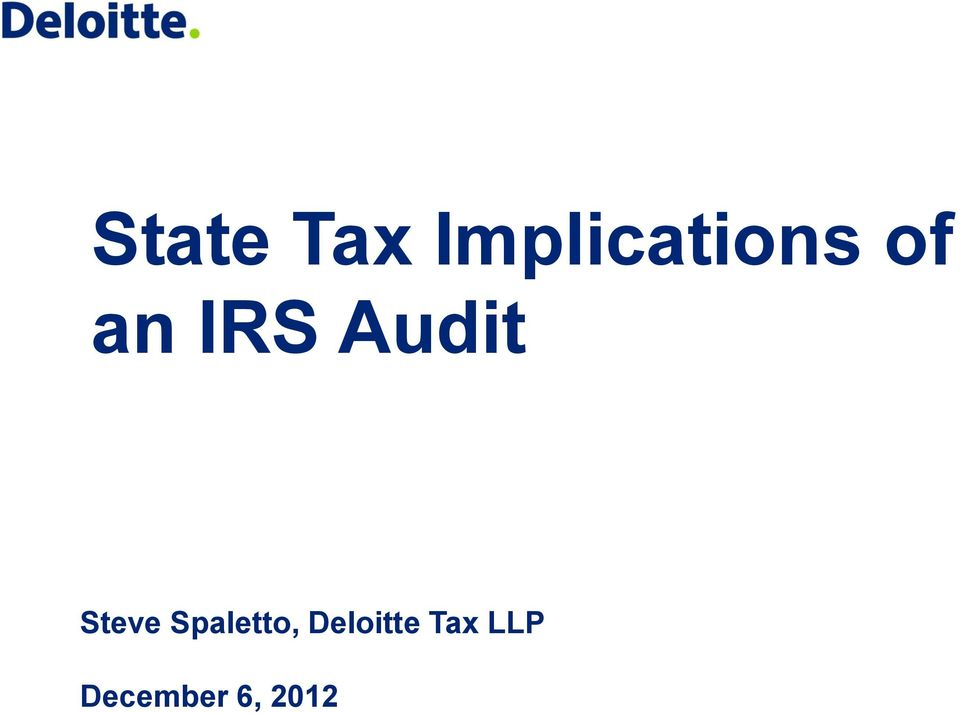 IRS Audit Steve
