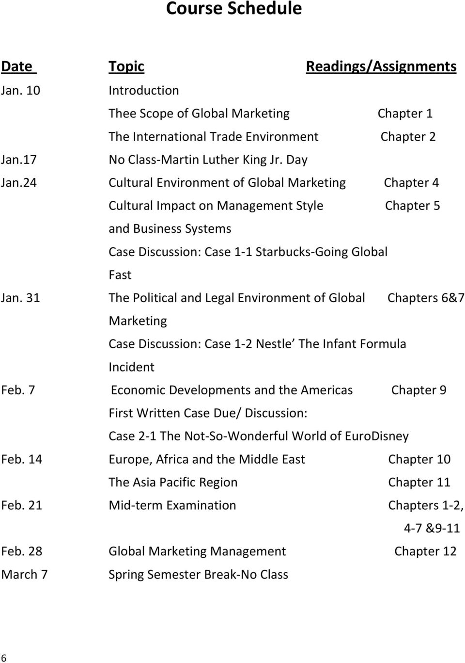 31 The Political and Legal Environment of Global Chapters 6&7 Marketing Case Discussion: Case 1 2 Nestle The Infant Formula Incident Feb.
