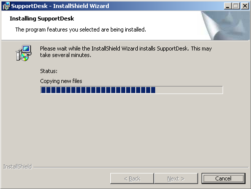 8. When the preferred Setup Type has been chosen, the following screen will be displayed: Click Install. 9.