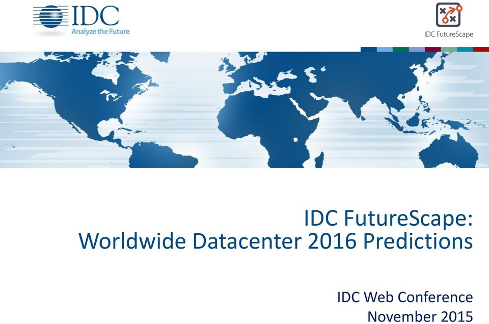 2016 Predictions IDC