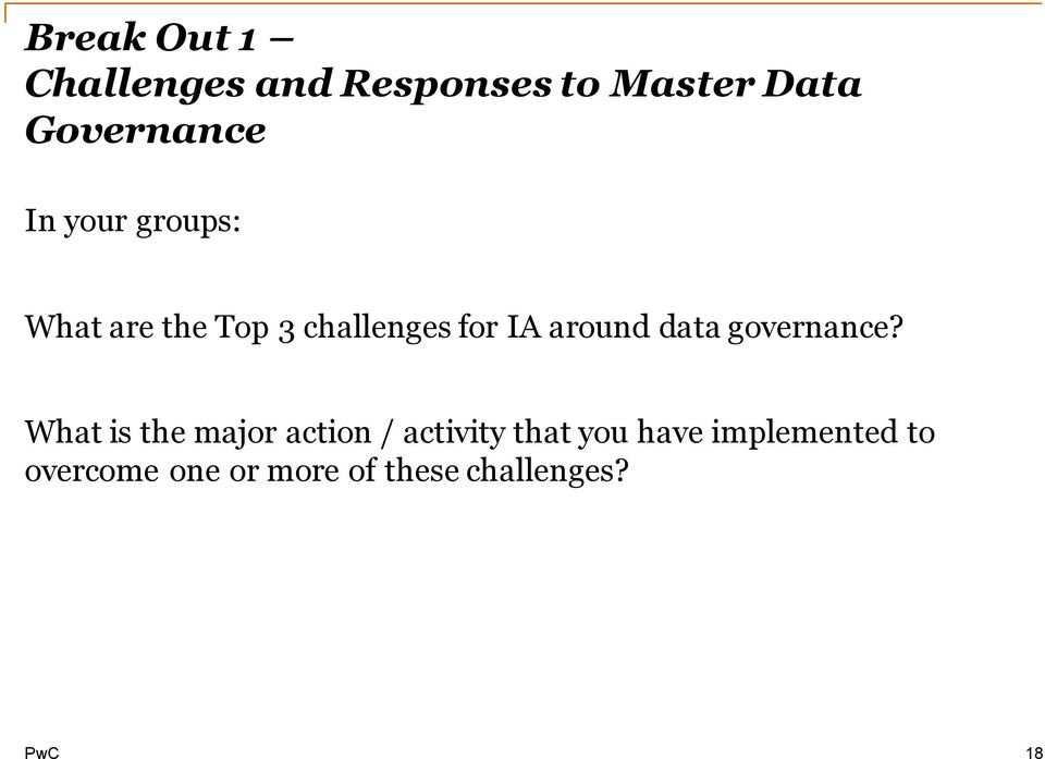 data governance?