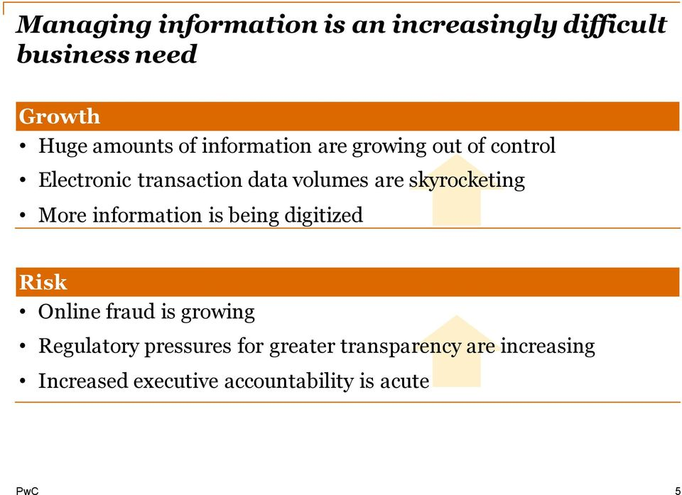 skyrocketing More information is being digitized Risk Online fraud is growing