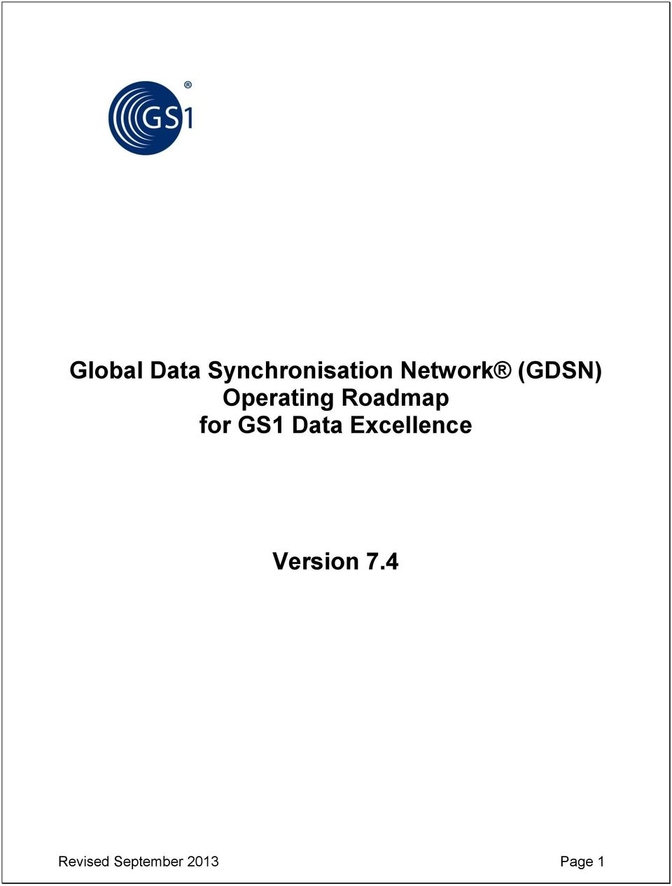 Roadmap for GS1 Data Excellence