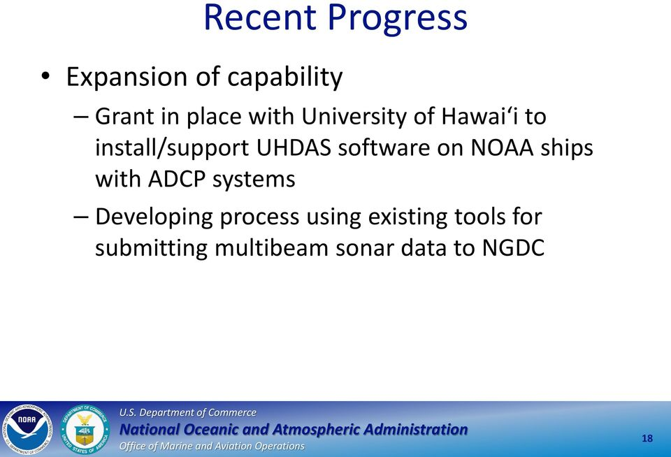 software on NOAA ships with ADCP systems Developing