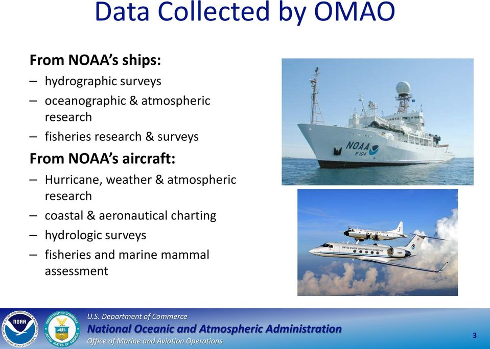 NOAA s aircraft: Hurricane, weather & atmospheric research coastal &