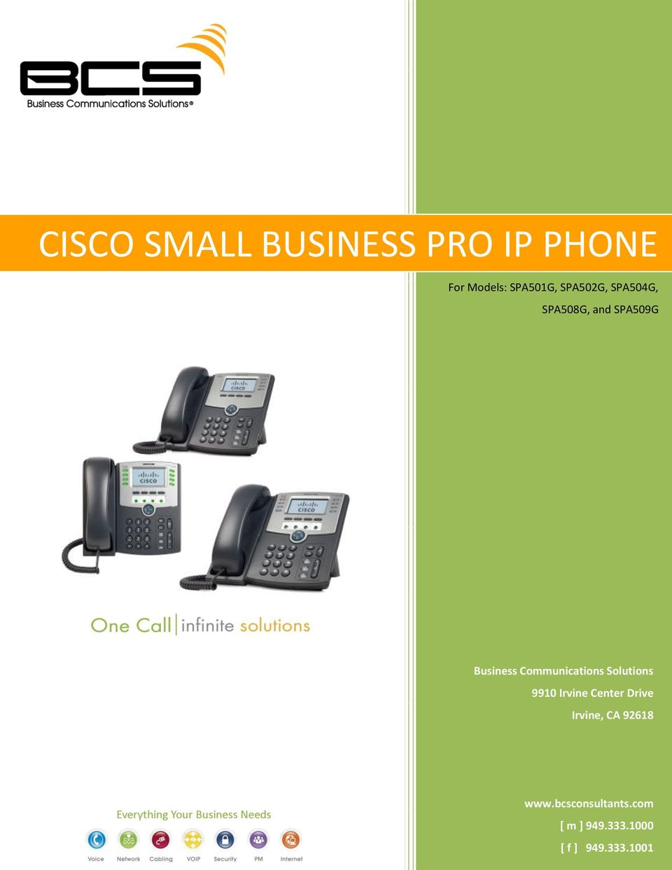 Communications Solutions 9910 Irvine Center Drive Irvine,