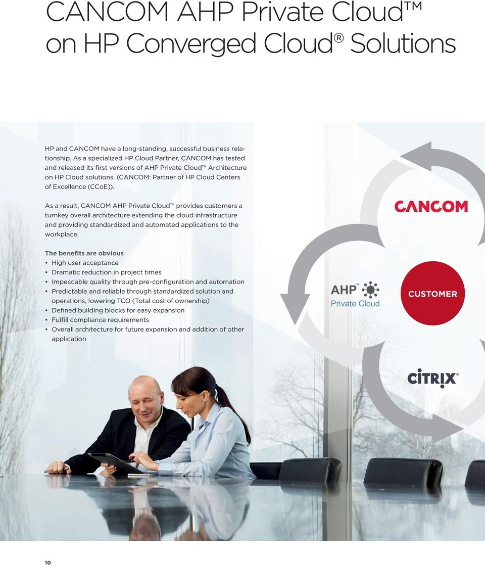 (CANCOM: Partner of HP Cloud Centers of Excellence (CCoE)).