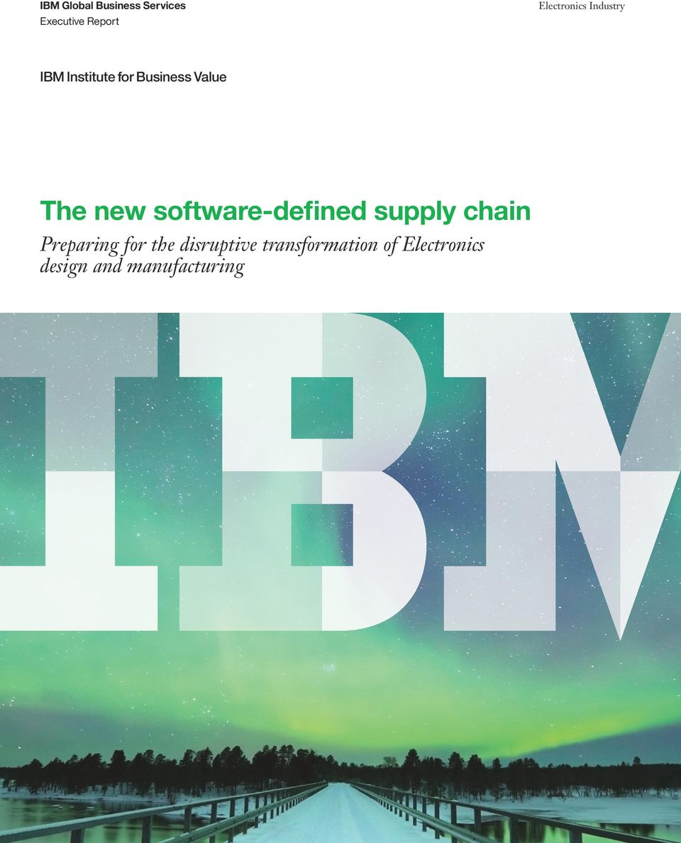 supply chain Preparing for the disruptive