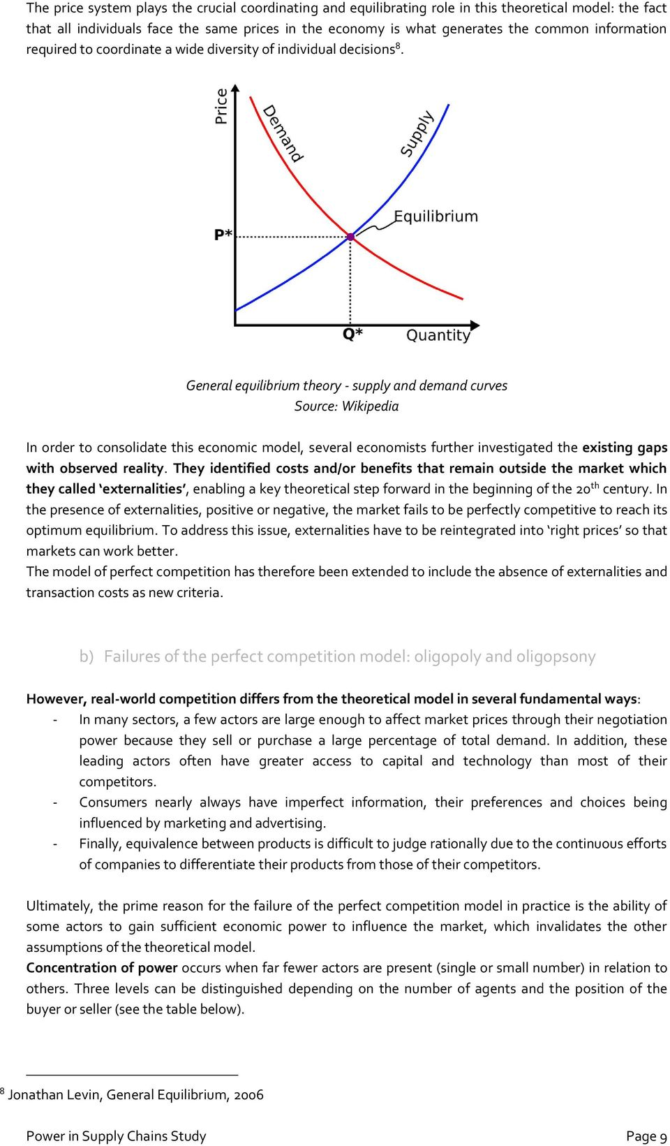 General equilibrium theory - supply and demand curves Source: Wikipedia In order to consolidate this economic model, several economists further investigated the existing gaps with observed reality.