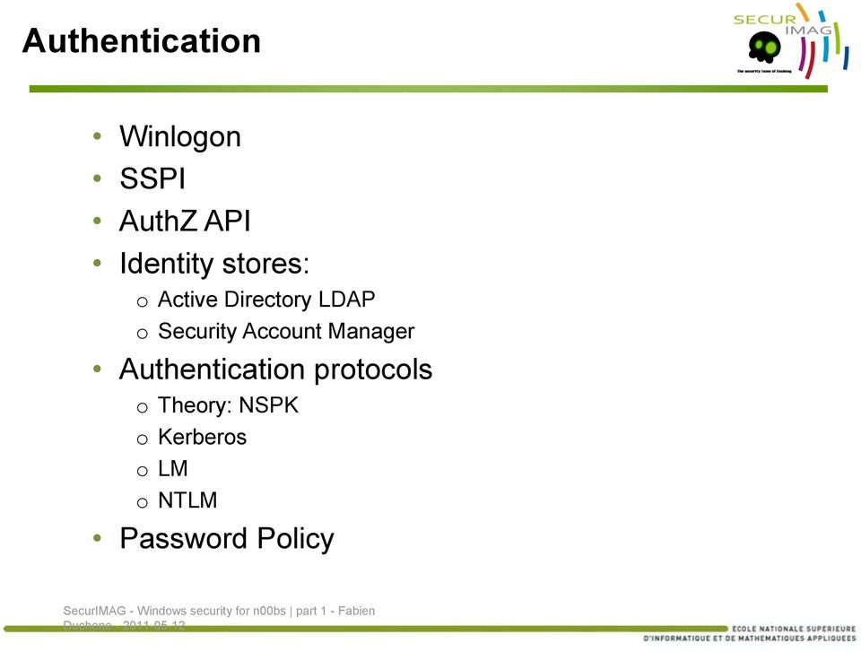Security Account Manager Authentication