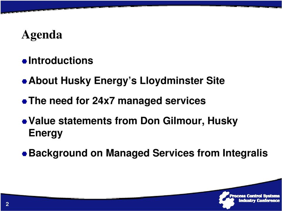 services Value statements from Don Gilmour,