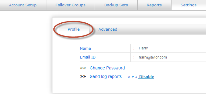 a new pop up window appears where you can view the Failover Points Report of your server images. Figure 44: Failover Points Report 6.
