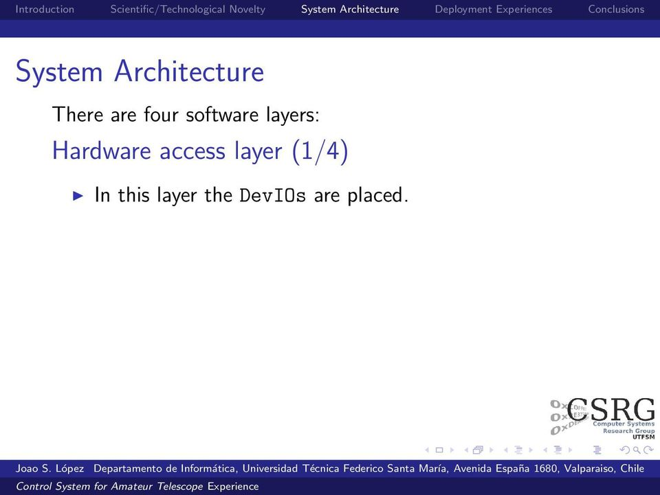 Hardware access layer (1/4)