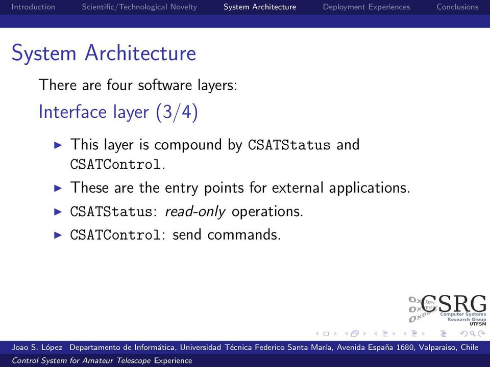 and CSATControl.