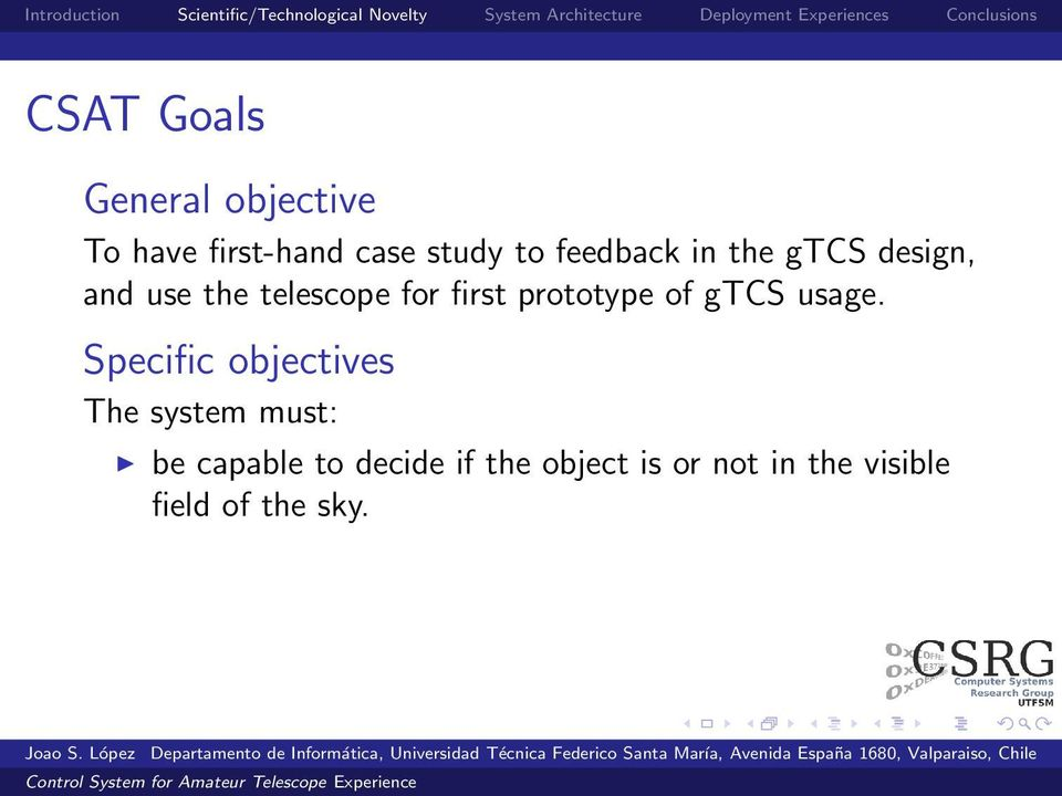 prototype of gtcs usage.
