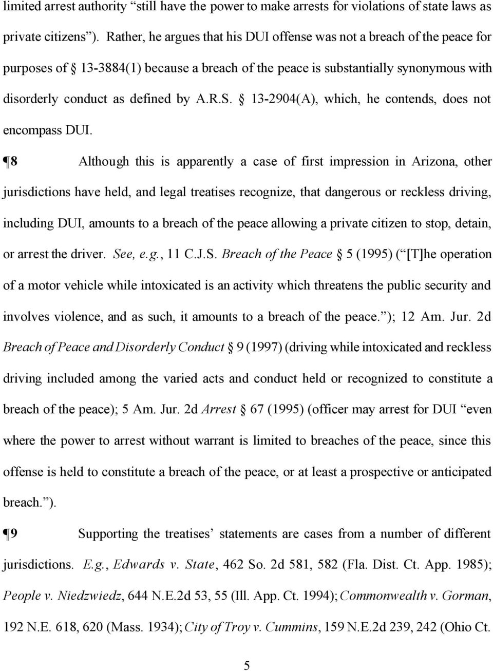 13-2904(A, which, he contends, does not encompass DUI.