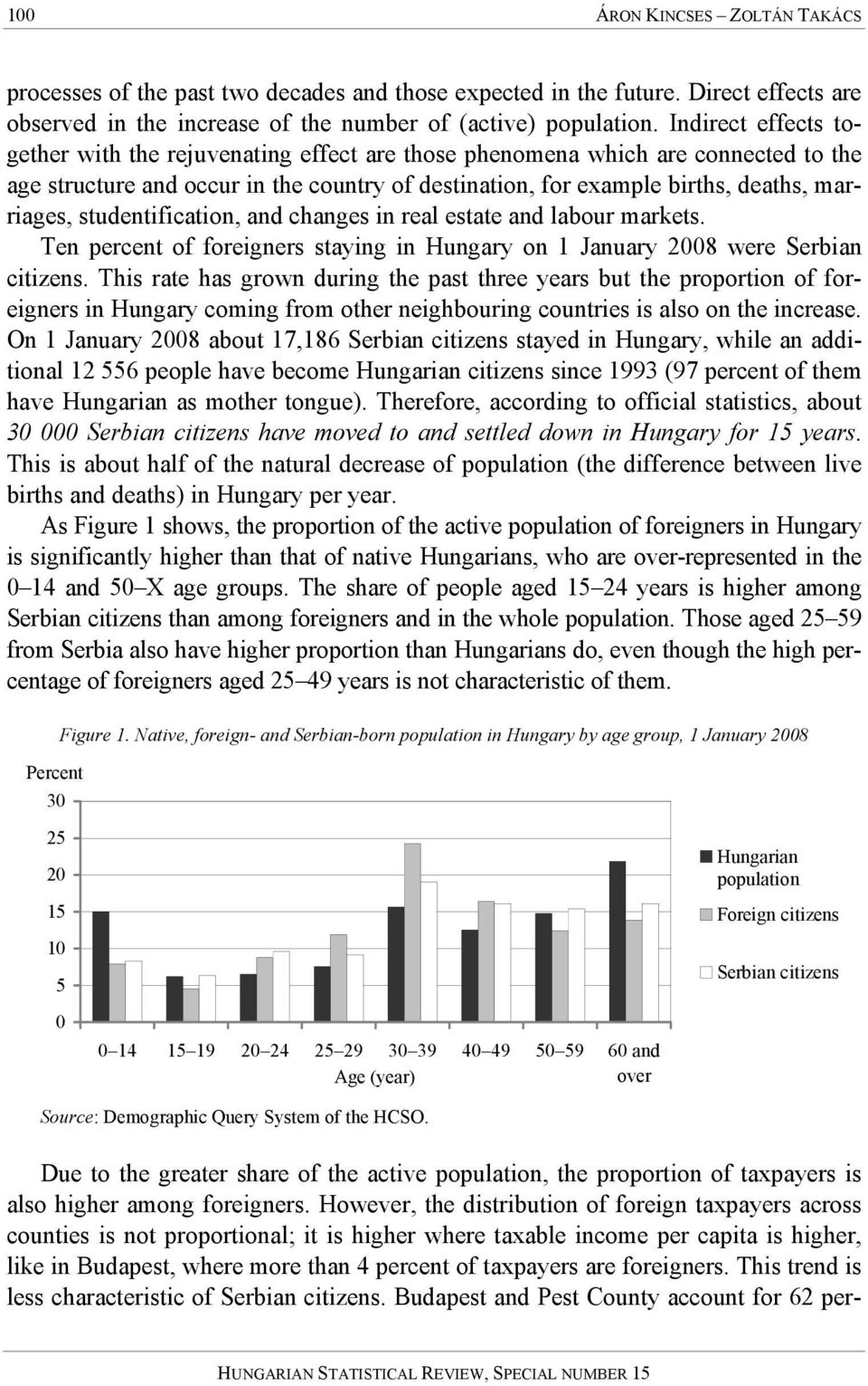 studentification, and changes in real estate and labour markets. Ten percent of foreigners staying in Hungary on 1 January 2008 were Serbian citizens.