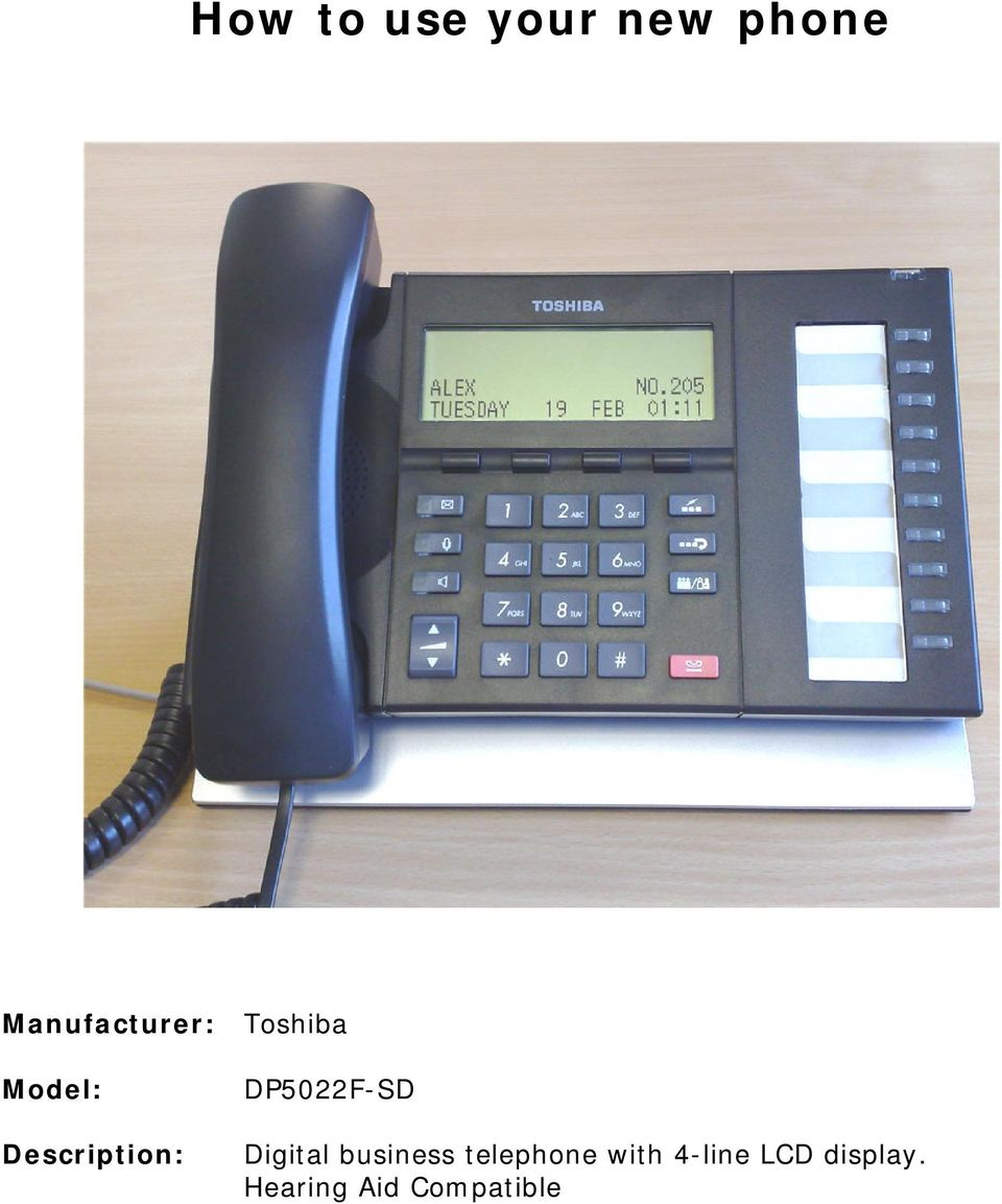 Digital business telephne with