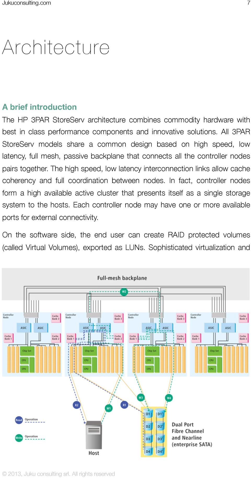 The high speed, low latency interconnection links allow cache coherency and full coordination between nodes.