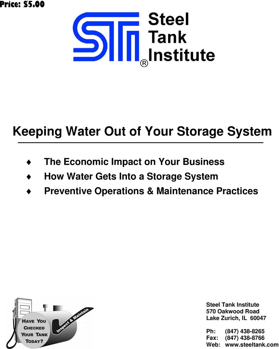 Business How Water Gets Into a Storage System Preventive Operations &
