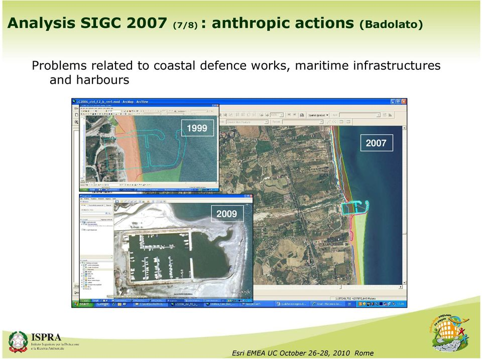to coastal defence works, maritime