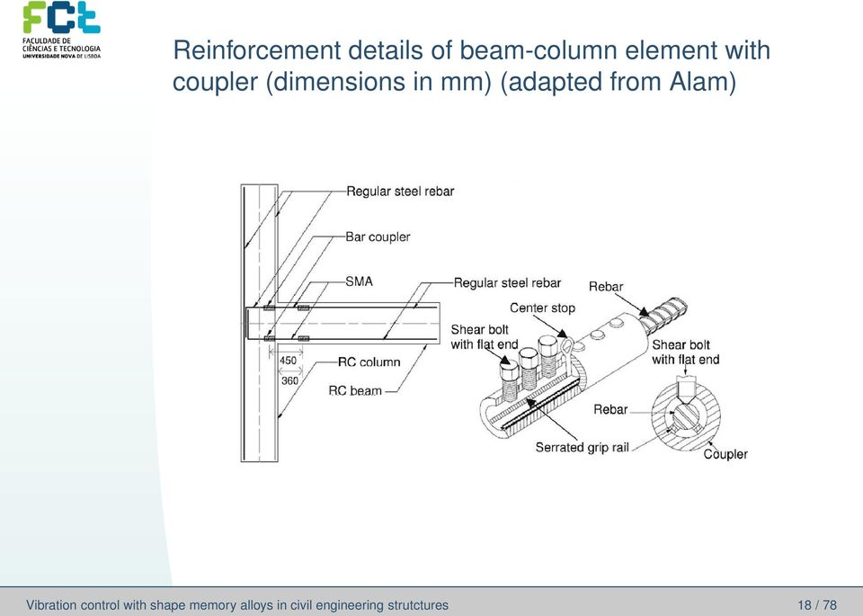 from Alam) Vibration control with shape