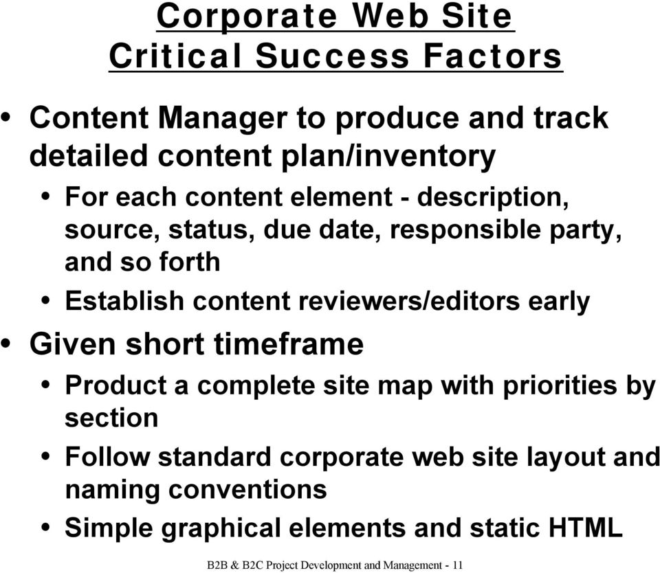 reviewerseditors early given short timeframe product a complete site map with priorities by section