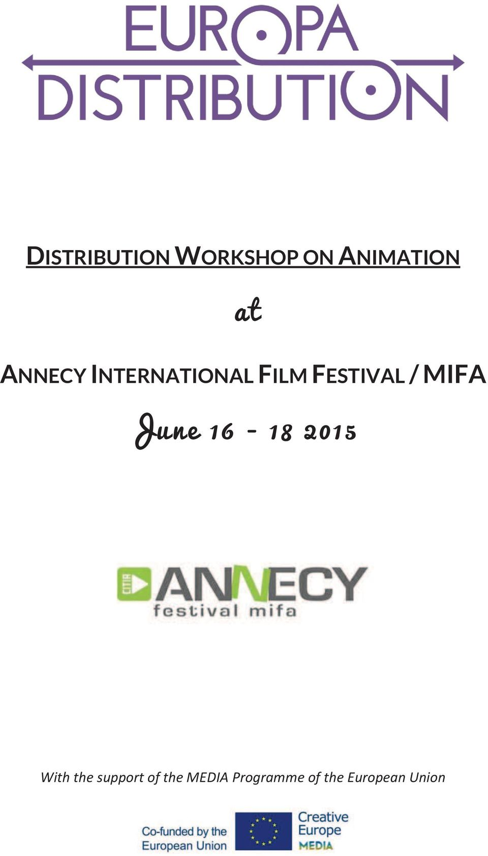 MIFA June 16-18 2015 With the support