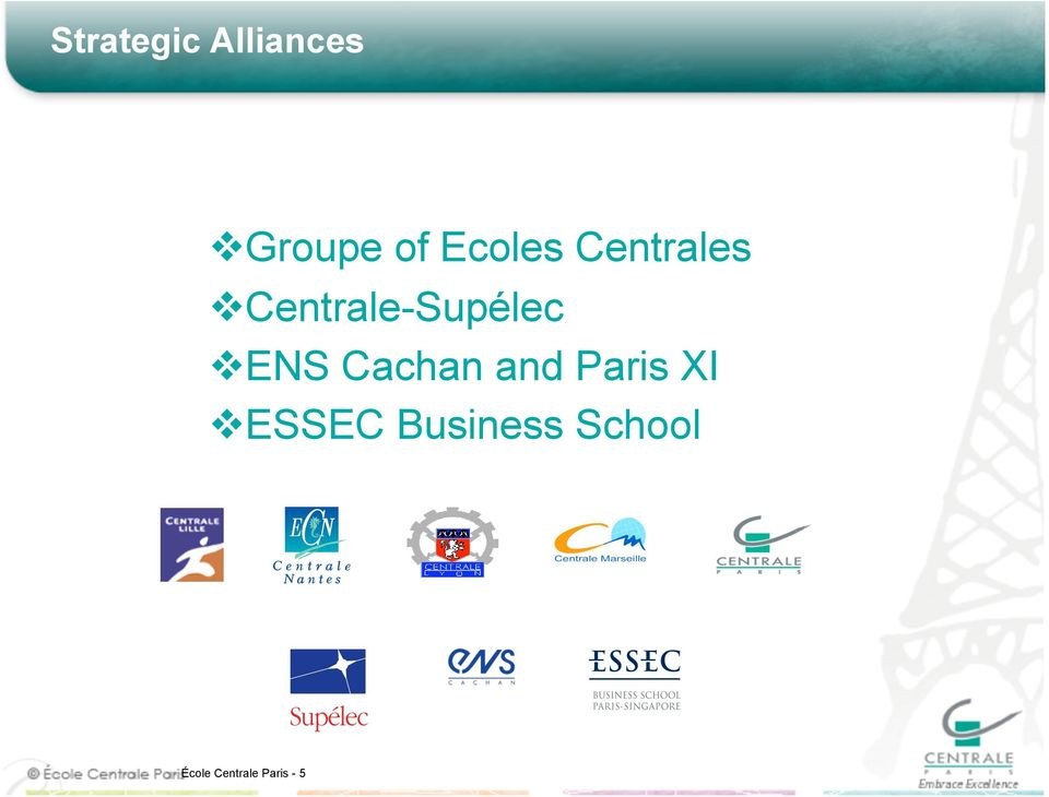 ENS Cachan and Paris XI ESSEC
